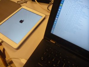 iPad during firmware flashing using libimobiledevice